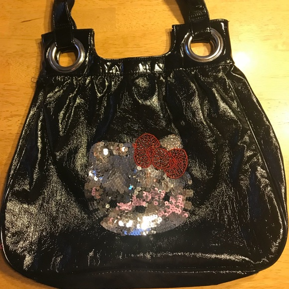 4499b5107 Hello Kitty Handbags - HELLO KITTY black purse with bling!! Brand new!